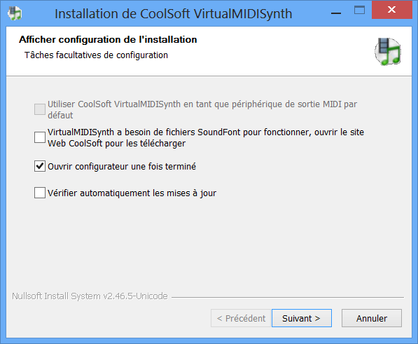 Installation de VirtualMIDISynth